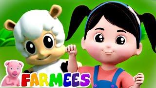Mary had a Little Lamb | Preschool Nursery Rhymes & Baby Songs | Animal Songs | Farmees