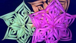 Как сделать снежинку из бумаги(Как сделать снежинку из бумаги своими руками - Новогоднее украшение из бумаги., 2013-11-28T21:20:25.000Z)