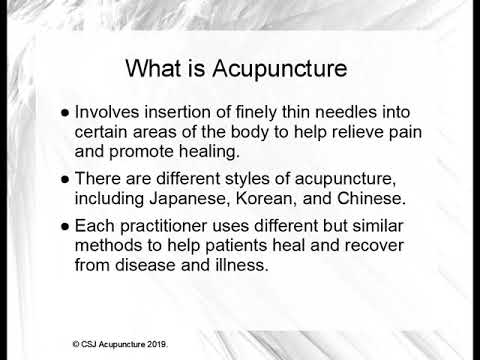 An Introduction Into Acupuncture and Qi