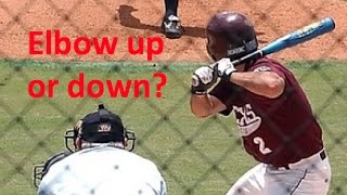 Should a hitter keep his back elbow up?