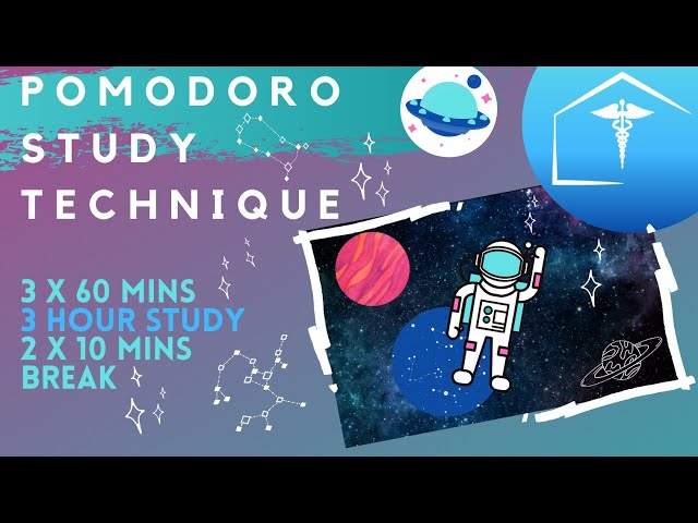 Peaceful Space Study With Me Hd - Pomodoro Technique  Timer & Breaks For  Focus Exams Finals & Work
