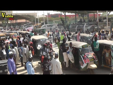 2019 Elections : Okada Riders, Tricycle Shut Down Abuja, Drum Support For Buhari/Osinbajo