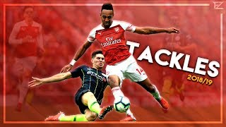 Amazing Tackles & Defensive Skills In Football ● 2018/19 - Hd