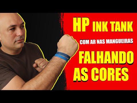 HP Ink Tank com ar nas mangueiras, como resolver?