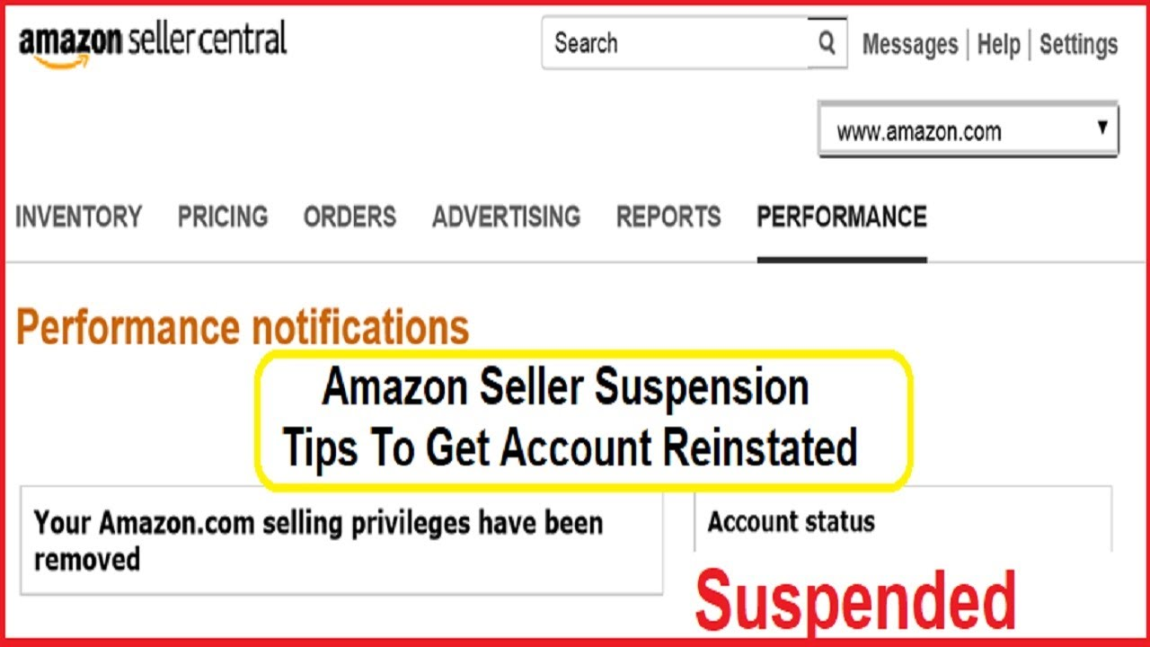 Image result for amazon seller account deactivated