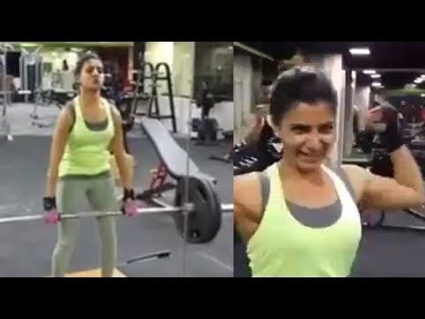Actress Samantha Workout Videos at Gym