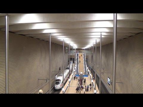 Durchfahrt eines ICE durch den S-Bahn-Tunnel Leipzig (Bahnhof Leipzig Markt)