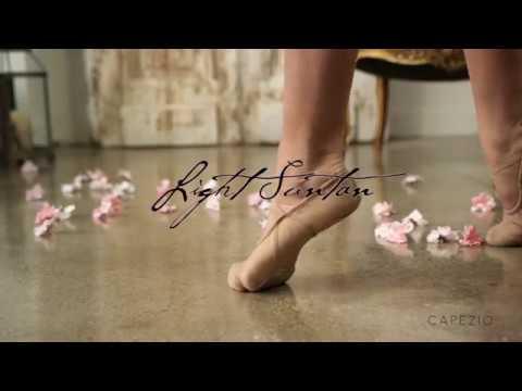 d31ba175a Capezio's Best-Selling Canvas Split-Sole Hanami Ballet Shoe - YouTube