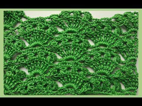 Ажурный узор крючком + схема / Openwork Pattern Crochet