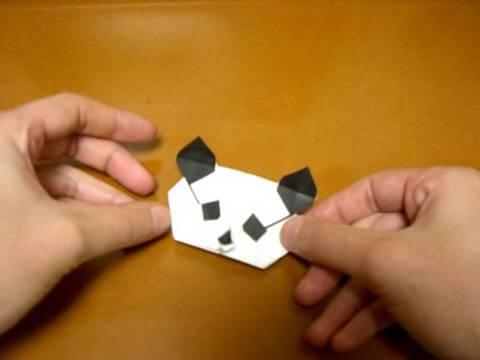 Origami Panda Head