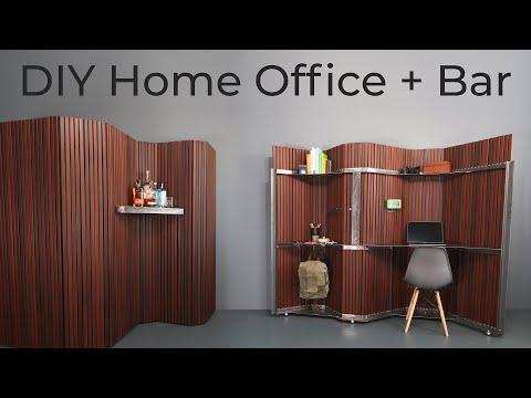 DIY Home Office + Bar