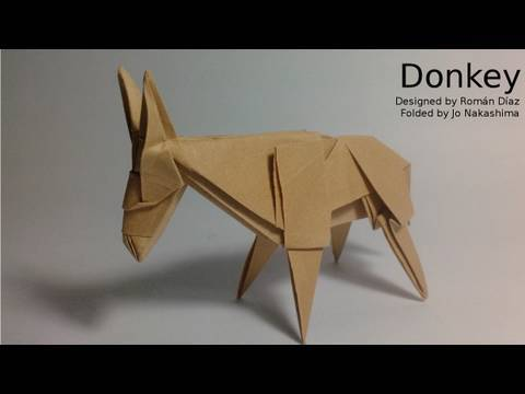 origami donkey rom225n d237az not a tutorial youtube