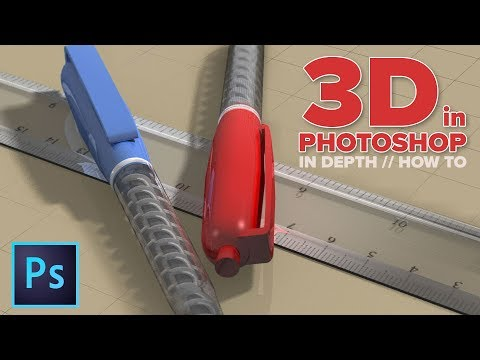 How to use 3D in Photoshop. ULTIMATE in depth tutorial thumbnail