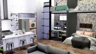 The Sims 4 | Tiny College Loft Apartment | Speed Build + Download Links