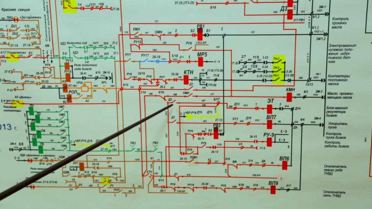 Схема тепловоза тэ10м