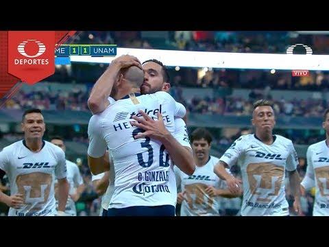 Gol de Carlos González   América 1 - 1 Pumas   Apertura 2018 - Semifinal   Televisa Deportes