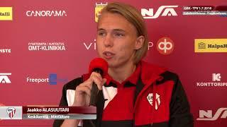 GBK - TPV su 1.7.2018 - Otteluennakko | Presskonferens