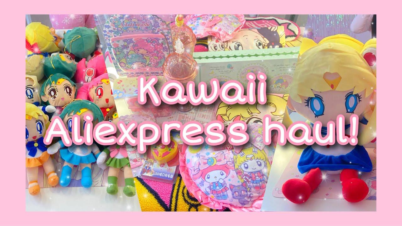Kawaii Aliexpress haul | Sailor Moon & Sanrio accessories + aesthetic room decor! ♡