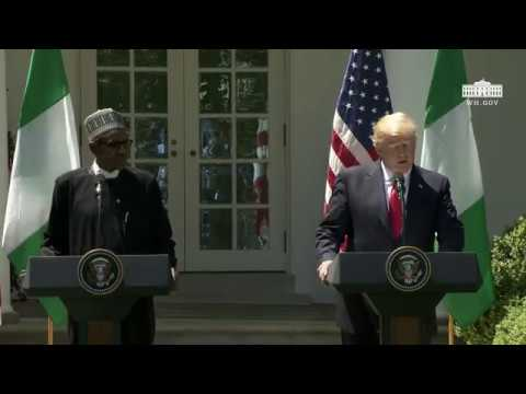 President Trump Hosts a Joint Press Conference with President Buhari