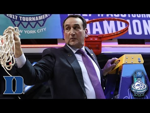 Coach K 1-on-1 After Winning 2017 ACC Tournament Title Over Notre Dame