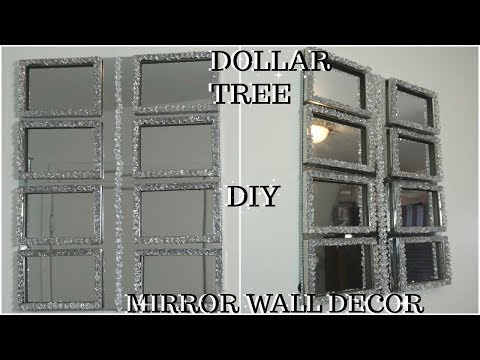 DIY DOLLAR TREE HIGH END MIRROR AND GEMSTONES WALL DECOR | QUICK INEXPENSIVE MIRROR WALL DECOR IDEA
