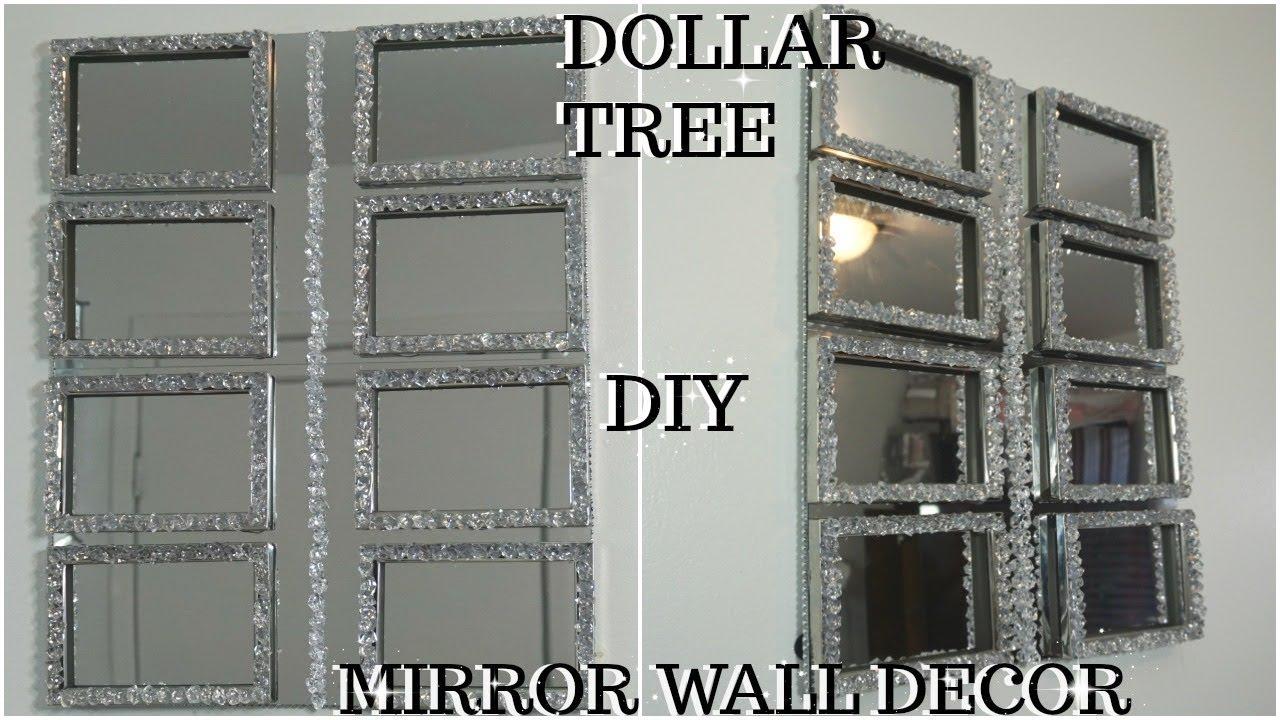 DIY DOLLAR TREE HIGH END MIRROR AND GEMSTONES WALL DECOR ...