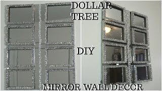DIY DOLLAR TREE HIGH END MIRROR AND GEMSTONES WALL DECOR | QUICK INEXPENSIVE MIRROR WALL DECOR IDEA