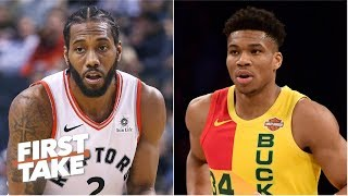 Bucks, Raptors are bigger threats to the Warriors than any team in the West - Will Cain | First Take thumbnail