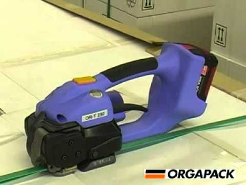 83874fdb42f Orgapack ORT250 battery operated bander - YouTube