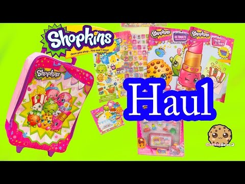 Shopkins HAUL - Suitcase Of A Season 4 12 Pack, Stickers, Books + More - Unboxing Vid Cookieswirlc