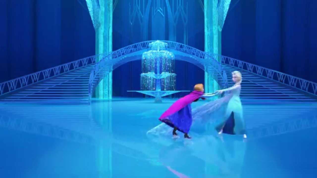 La Reine Des Neiges Patinage Avec Elsa Anna Et Olaf I Disney