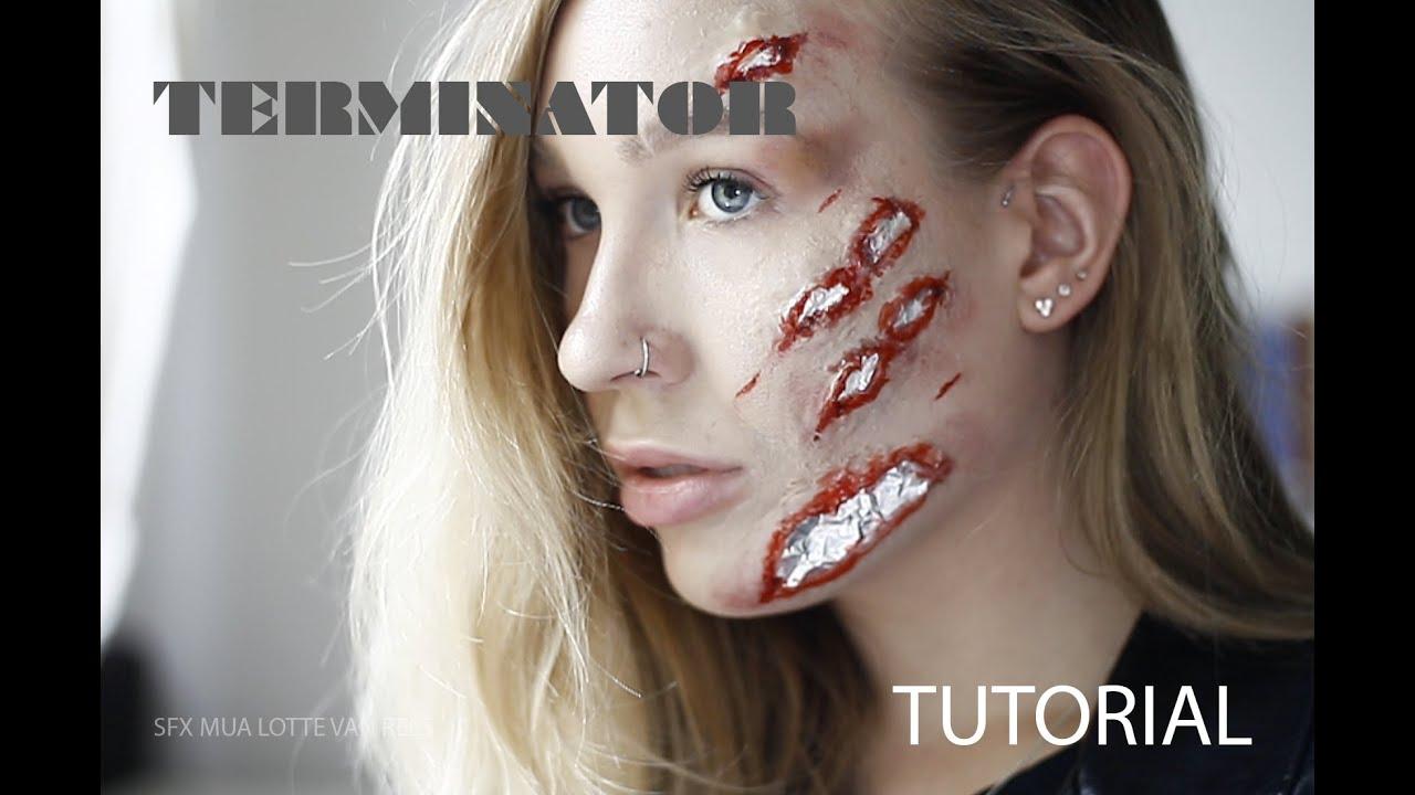 Terminator Easy Gore Makeup Tutorial Youtube - Gore-makeup