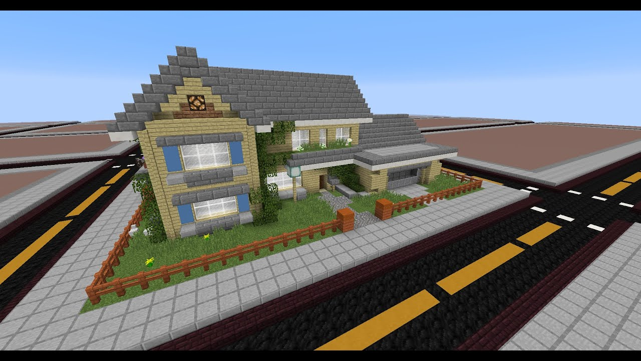 minecraft two story house tutorial - Two Story Houses Pictures