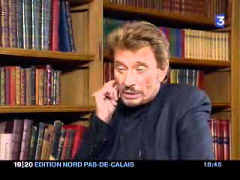 Johnny Hallyday bourré - Interview France 3 Nord Pas de Calais (15 mars 2006)