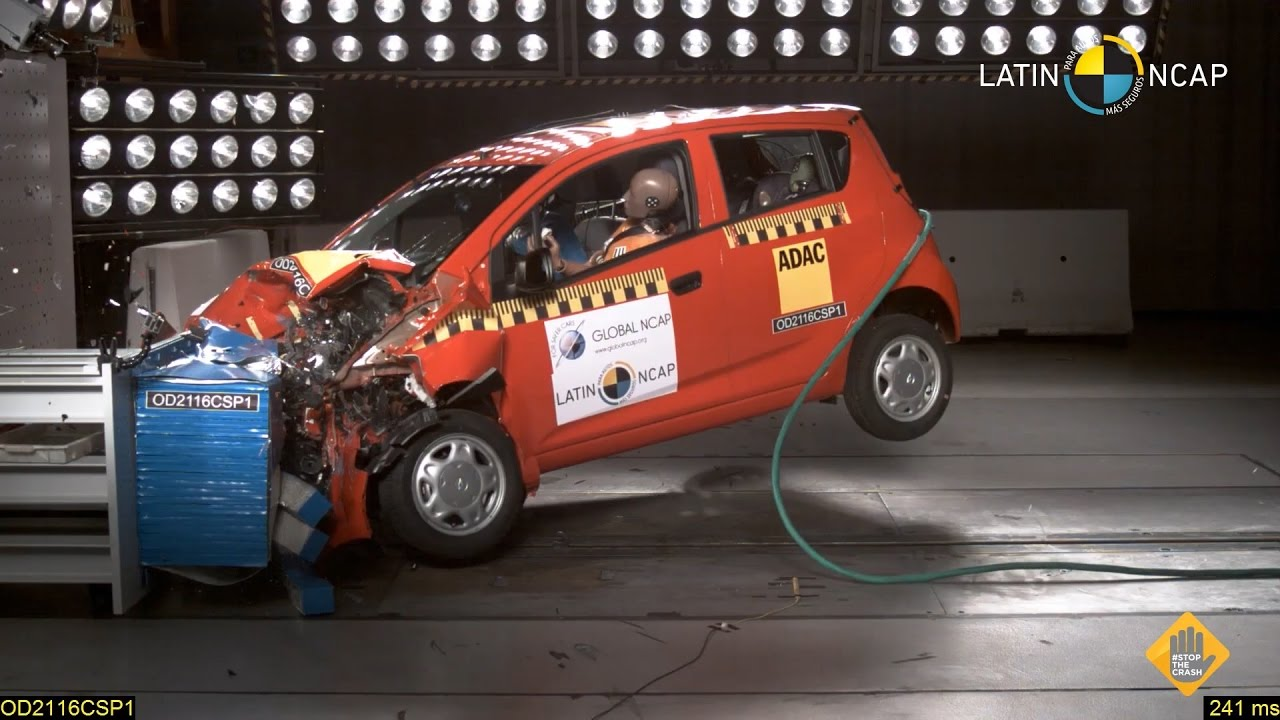 Chevrolet Spark Gt Crash Test Latin Ncap Youtube