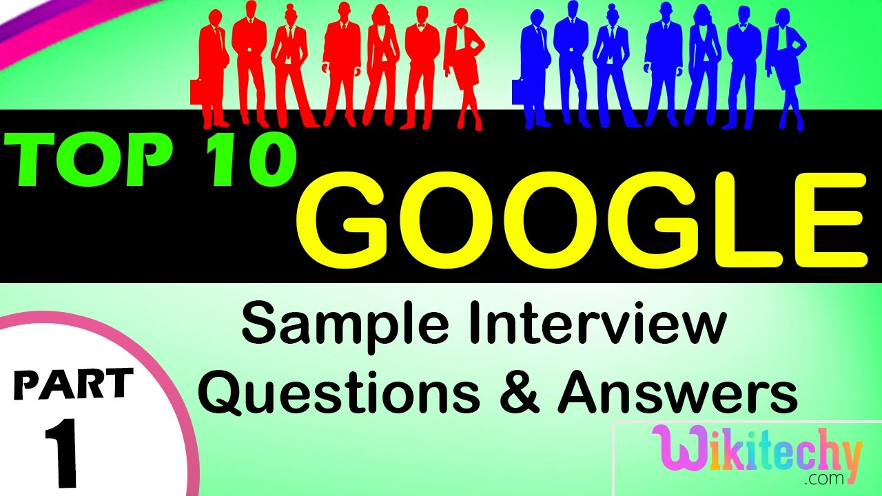 Google Questions and Answers