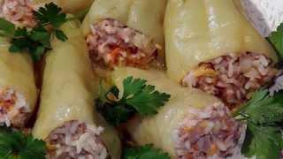 Рецепт приготовления фаршированного перца. Перец фаршированный мясом и рисом.