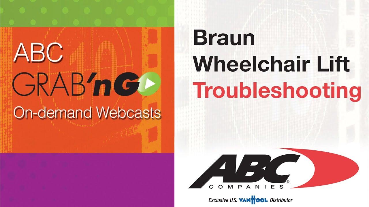 Braun Century 2 Wheelchair Lift Wiring Diagram Vole Bone Gg019 Grab Ngo Troubleshooting Youtube
