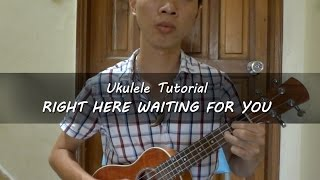 [Ukulele tutorial] Hướng dẫn Ukulele - Right Here Waiting For You