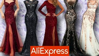 A VERY GLAM EVENING DRESS FROM ALIEXPRESS. |Dress haul Malaysia.