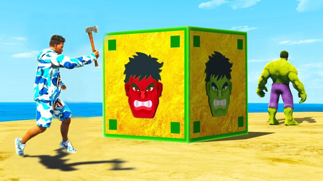 "Opening BIGGEST ""GOD HULK"" LUCKY BOX in GTA5 | GTA5 AVENGERS"