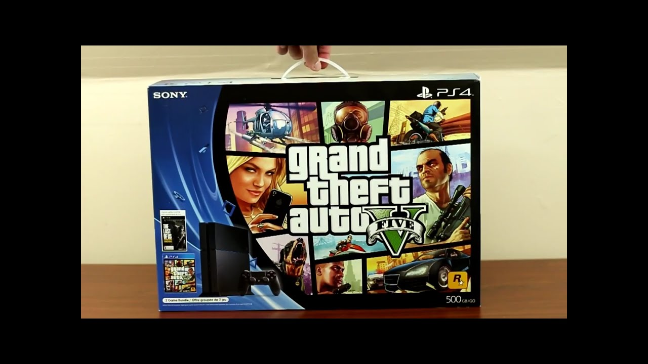 ps4 gta 5 the last of us bundle unboxing youtube. Black Bedroom Furniture Sets. Home Design Ideas