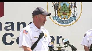 Raw video: Authorities discuss massive Sanford fire