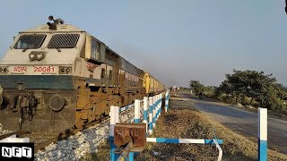 12346 Saraighat Express Super Fast Long Distance Train Honking WDP 4 Siliguri Diesel Engine
