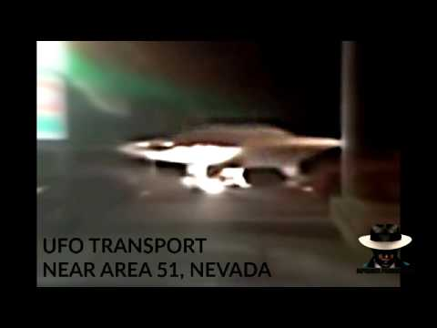 UFO Escorted by Police / Transported near Area 51, Nevada