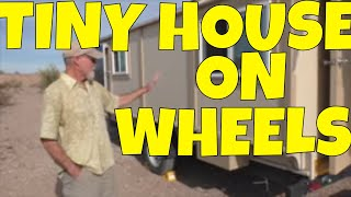 Nomad Lou Shows His Tiny Houses Example on Wheels