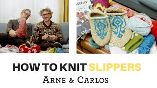 How to knit your own slippers - by ARNE & CARLOS