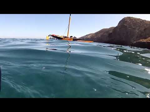 A sail from Channel Islands Harbor to Anacapa on a Hobie Tandem Island