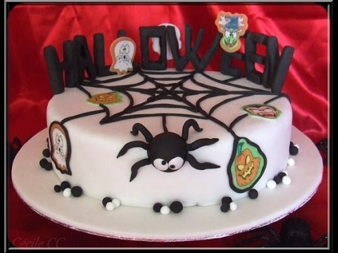 tutoriel g teau d cor cake design pour halloween youtube. Black Bedroom Furniture Sets. Home Design Ideas