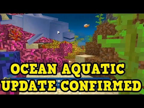 Minecraft PE / Xbox / PS NEW OCEAN UPDATE FEATURES